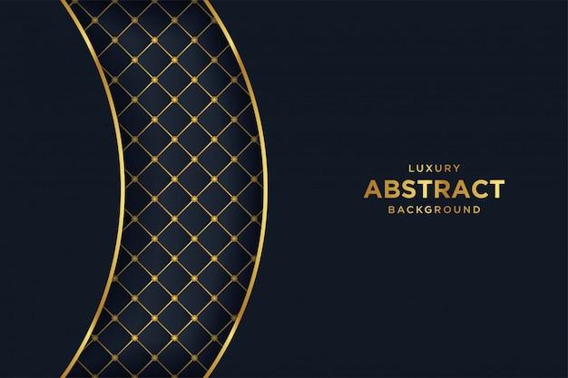 Fond noir de luxe avec un style 3d. Vecteur Premium