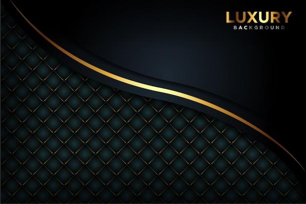 Fond noir luxueux Vecteur Premium