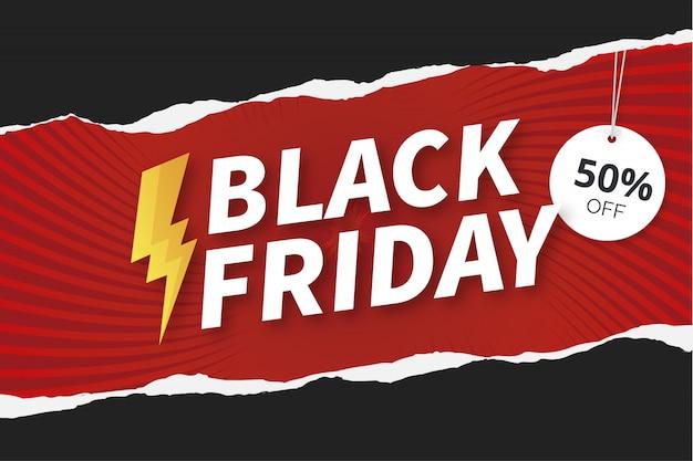 Fond noir moderne vendredi avec la texture du papier Vecteur gratuit