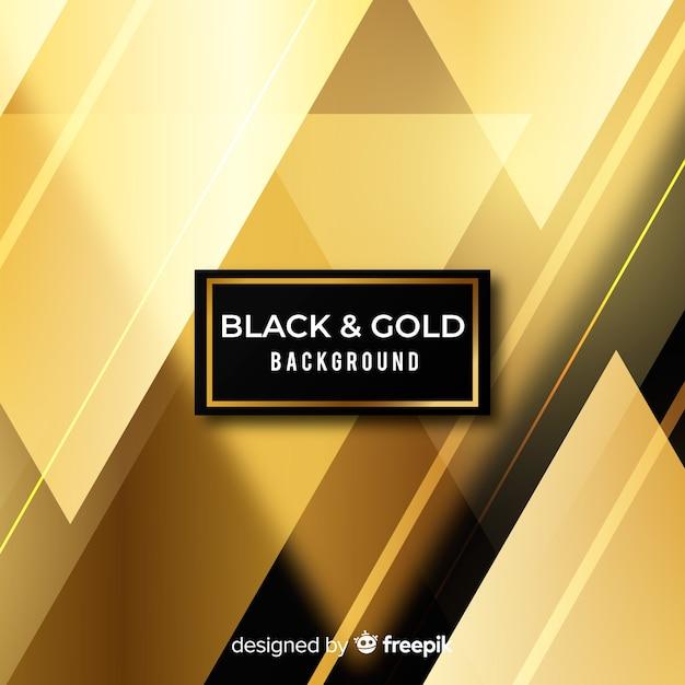 Fond noir et or Vecteur gratuit