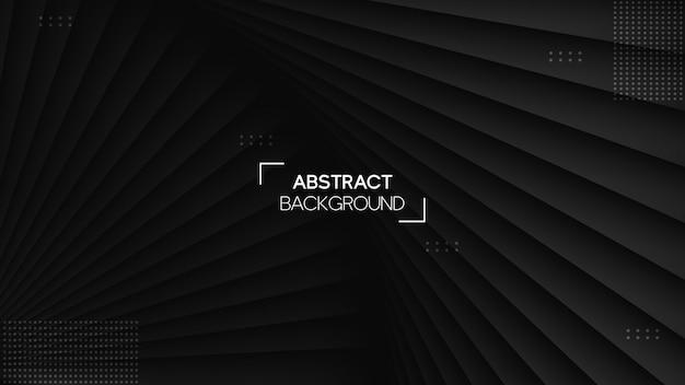 Fond Noir Réaliste Avec Style Géométrique Vecteur Premium
