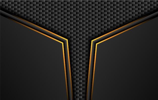 Fond Noir Technique Avec Bandes Contrastées Jaune Orange. Vecteur Premium