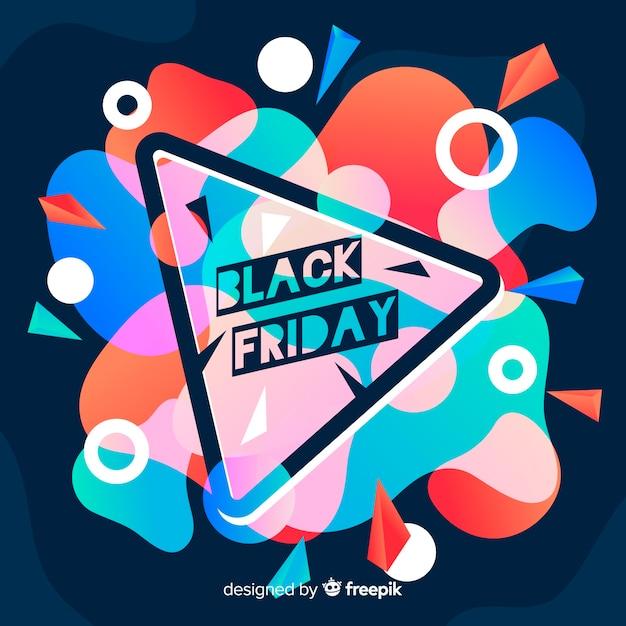 Fond noir vendredi dans un style dégradé Vecteur gratuit