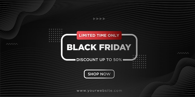 Fond noir vendredi avec dégradé noir Vecteur Premium