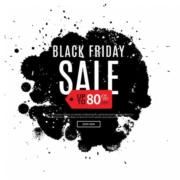 Fond noir vendredi, shopping modèle Vecteur Premium