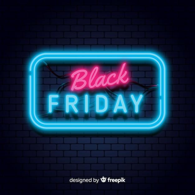 Fond noir vendredi vendredi Vecteur gratuit