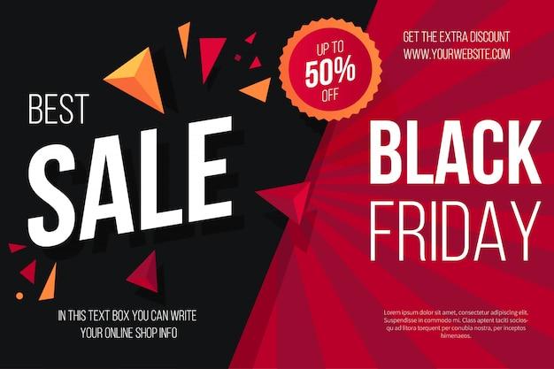 Fond noir vendredi vente Vecteur gratuit