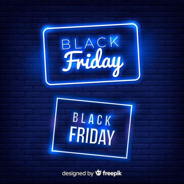 Fond noir de vente vendredi vendredi Vecteur gratuit
