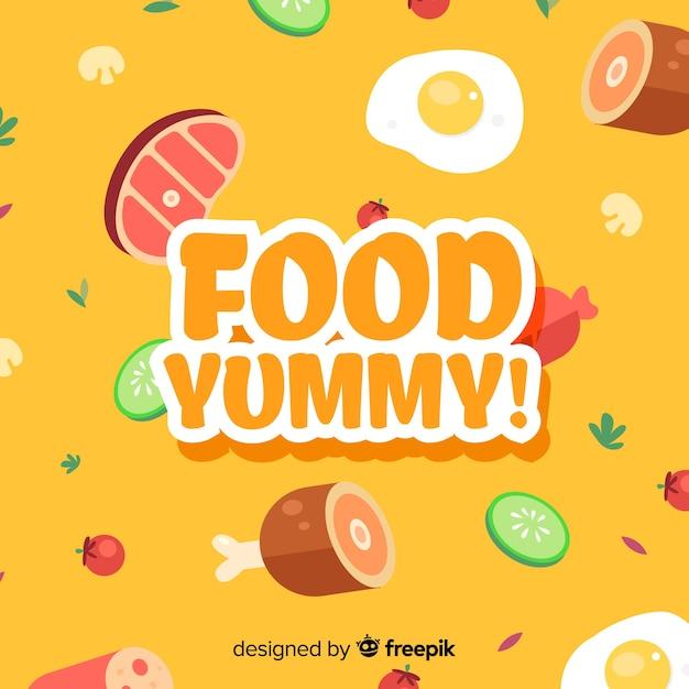 Fond De Nourriture Délicieux Vecteur gratuit