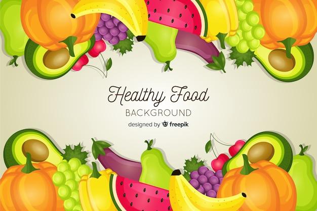 Fond de nourriture saine Vecteur gratuit