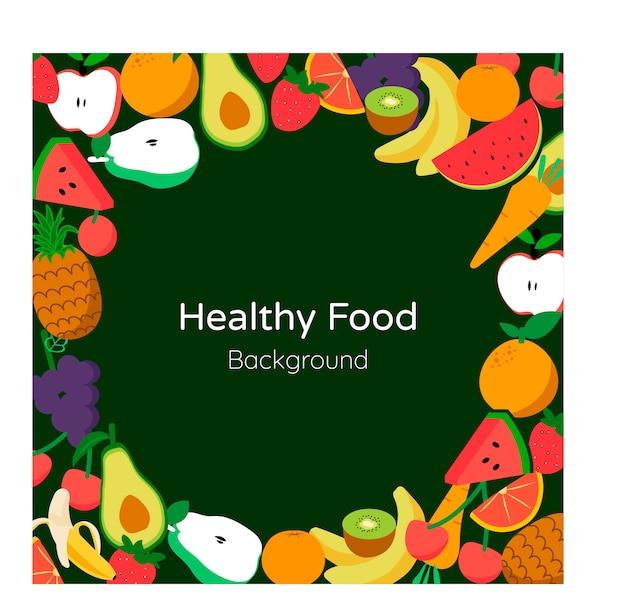 Fond de nourriture saine Vecteur Premium