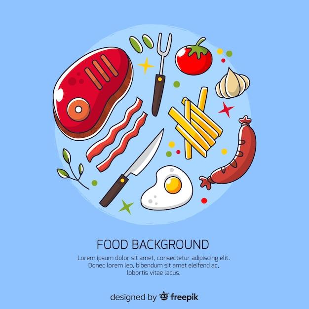 Fond de nourriture Vecteur gratuit