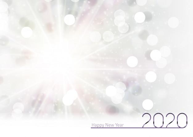 Fond de nouvel an 2020 et joyeux noël Vecteur Premium