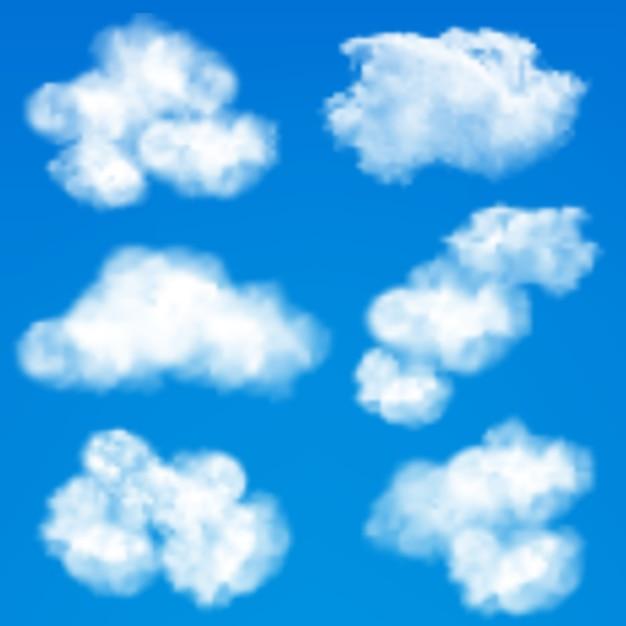 Fond de nuages de ciel Vecteur gratuit