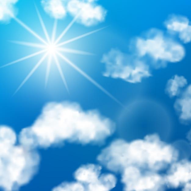 Fond de nuages de ciel Vecteur Premium