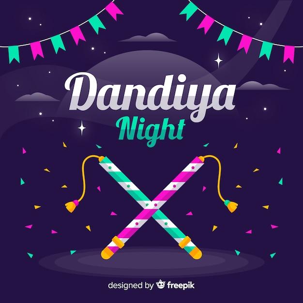 Fond de nuit de dandiya Vecteur gratuit