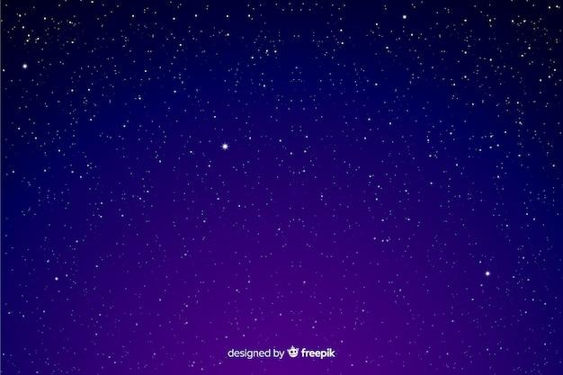 Fond De Nuit étoilée Dégradé Dans Les Tons Violets Vecteur Premium