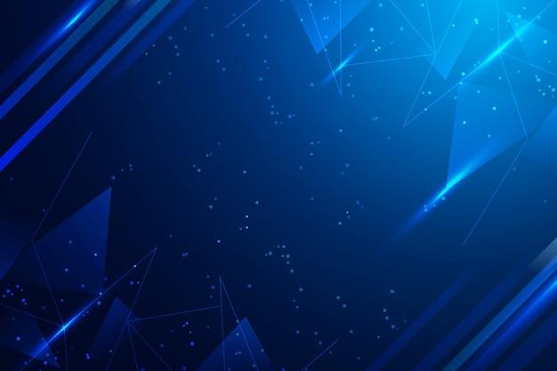Fond Numérique De L'espace Copie Bleue Vecteur gratuit