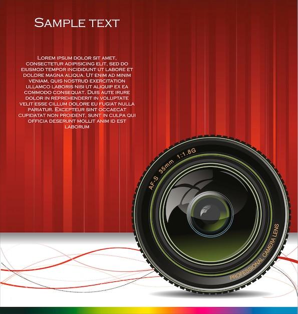Fond d'objectif de caméra Vecteur Premium