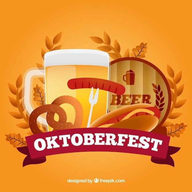 Fond Oktoberfest Coloré Vecteur gratuit