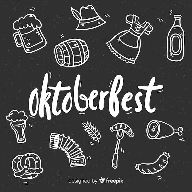 Fond de l'oktoberfest Vecteur gratuit