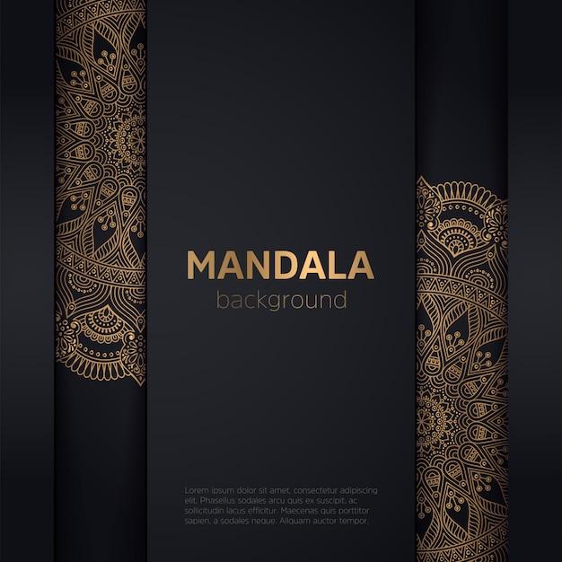 Fond D'or Avec Mandala Vecteur gratuit