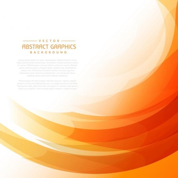 Fond orange ondulée avec des formes abstraites Vecteur gratuit