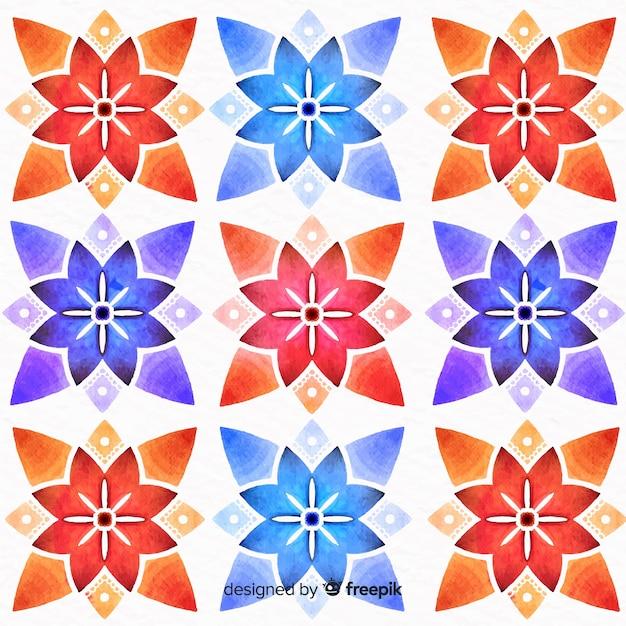 Fond d'ornement floral coloré Vecteur gratuit