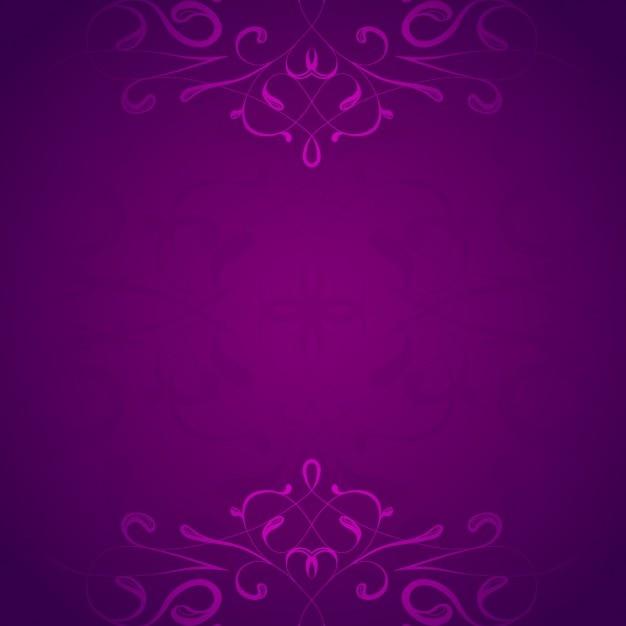 Fond Ornemental Violet Vecteur gratuit