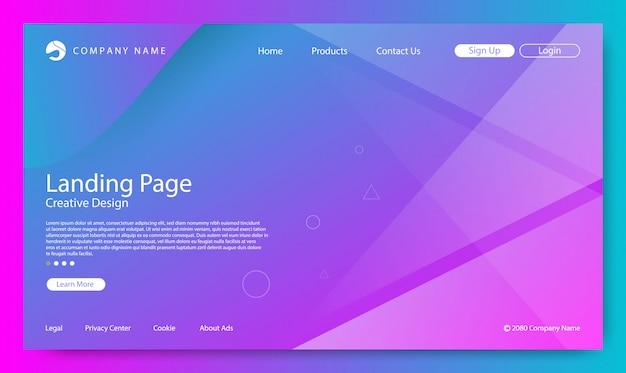 Fond de page de destination du site web Vecteur Premium