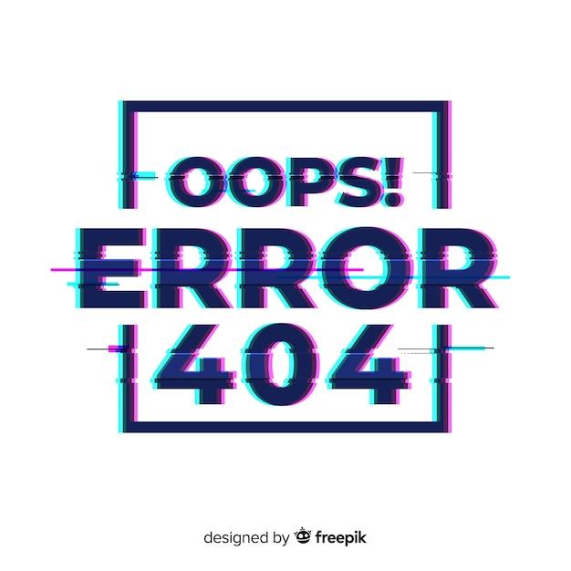 Fond de page d'erreur 404 Vecteur gratuit