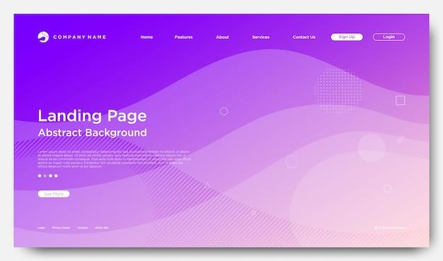 Fond de page de renvoi de site web, style abstrait moderne Vecteur Premium