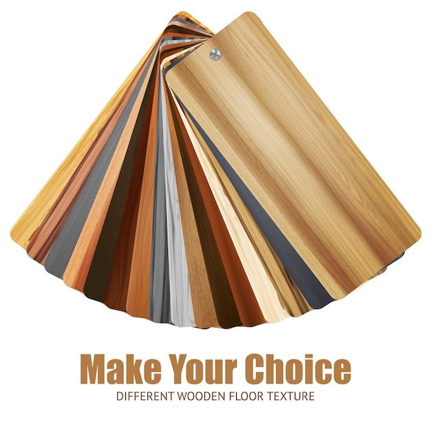 Fond de palette de couleurs en bois Vecteur gratuit
