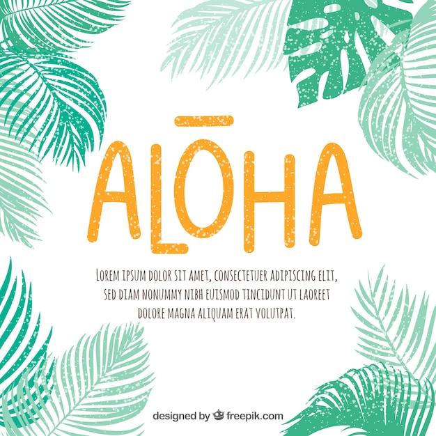 Fond de palmiers silhouette avec citation Vecteur gratuit
