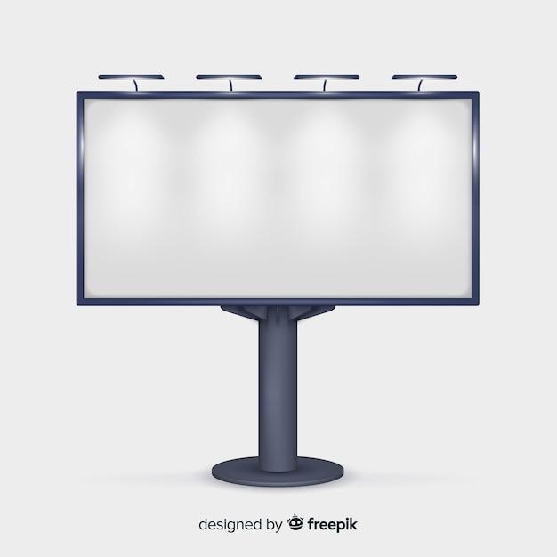 Fond de panneau d'affichage réaliste Vecteur gratuit