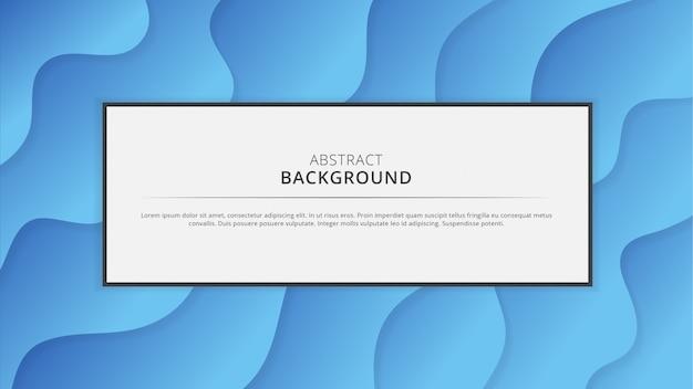 Fond de papier bleu dégradé avec des espaces blancs au milieu Vecteur Premium