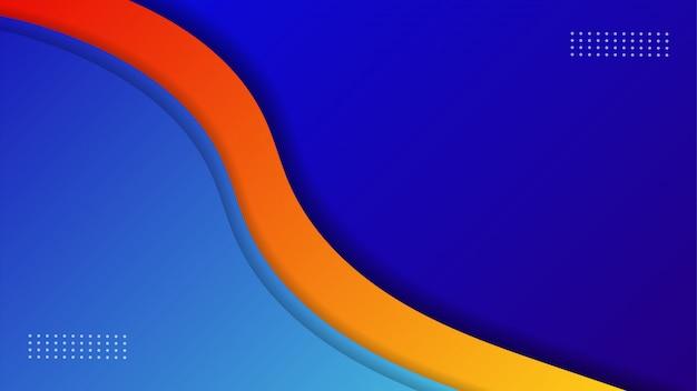 Fond De Papier Découpé Avec Des Couches Qui Se Chevauchent, Papier Peint Bleu, Vecteur Premium