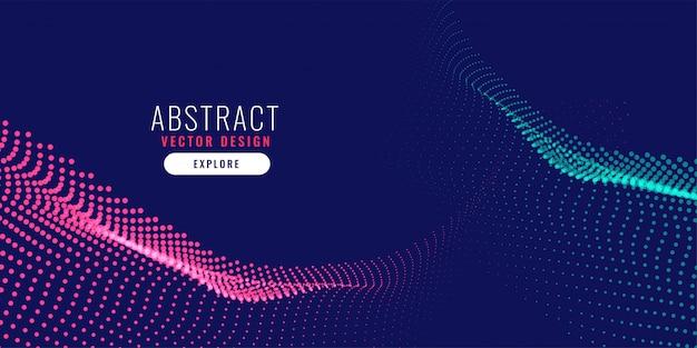 Fond de particules abstraites numériques Vecteur gratuit