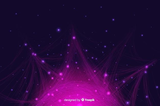 Fond de particules infographiques dégradé Vecteur gratuit