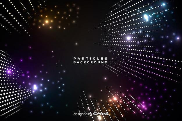 Fond de particules légères Vecteur gratuit