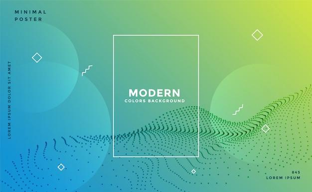 Fond De Particules De Memphis Coloré Moderne Vecteur gratuit
