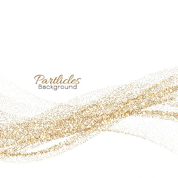 Fond de particules de paillettes d'or Vecteur gratuit