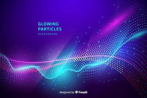 Fond de particules rougeoyantes Vecteur gratuit