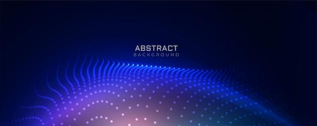 Fond de particules de technologie bleu élégant Vecteur gratuit
