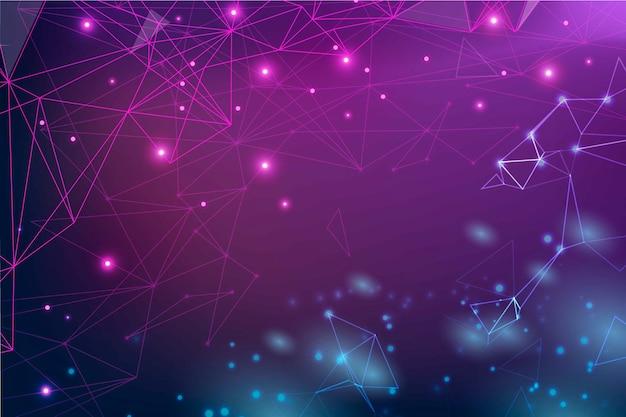 Fond De Particules De Technologie Réaliste Vecteur gratuit