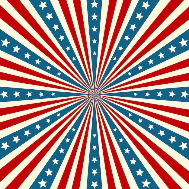 Fond patriotique de la fête de l'indépendance américaine Vecteur Premium