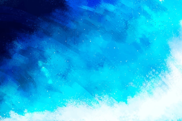 Fond Peint à La Main En Bleu Dégradé Vecteur gratuit