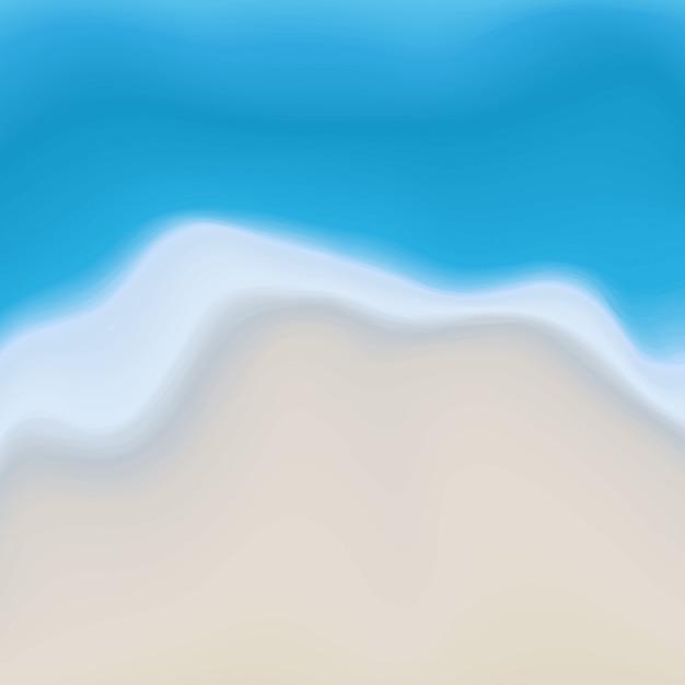 Fond de peinture abstraite vecteur plage de sable et de l'eau Vecteur Premium