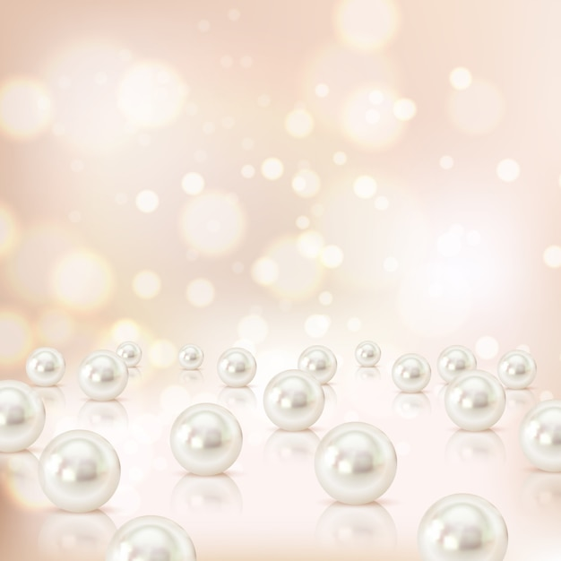 Fond de perle Vecteur gratuit