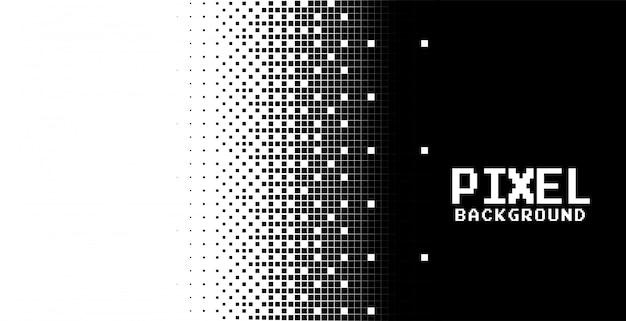 Fond De Pixels Abstraits Modernes En Noir Et Blanc Vecteur gratuit